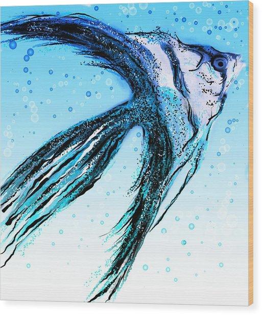 Angel Fish Art Wood Print