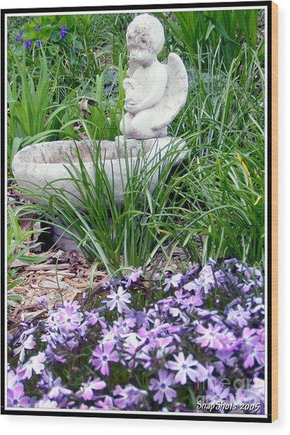 Angel Garden Wood Print by Emily Kelley