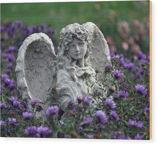 Angel Wood Print by Gwen Allen
