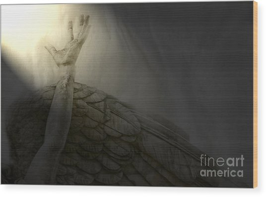 Angel Hand Wood Print