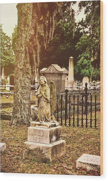 Angel In Stone Wood Print by JAMART Photography
