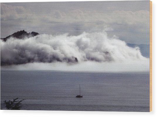 Angel Island Fog Wood Print