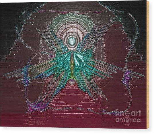 Angel Of Blood Wood Print by Patrick Guidato