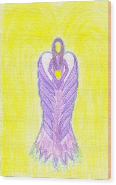 Angel Of Compassion Wood Print by Konstadina Sadoriniou - Adhen