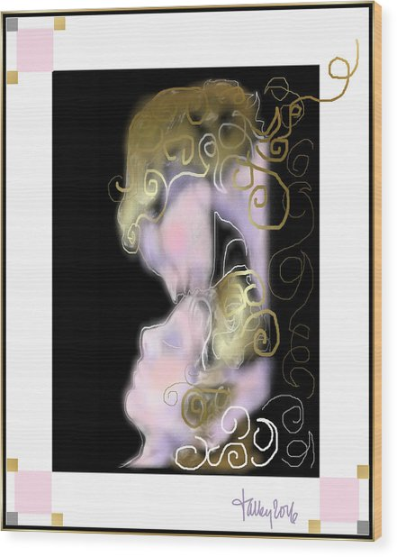 Angel Of Death Kiss Wood Print