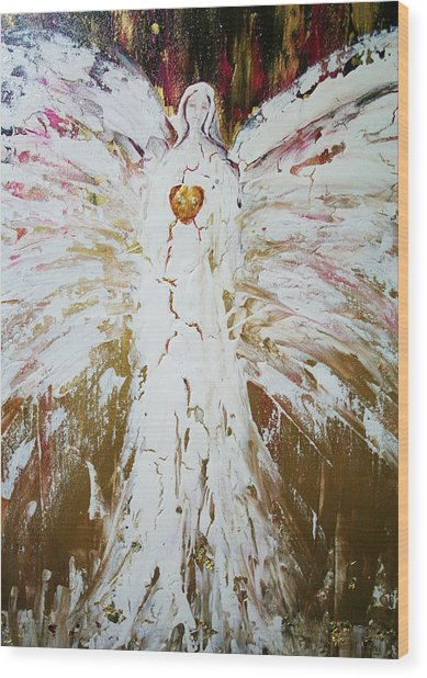 Angel Of Divine Healing Wood Print