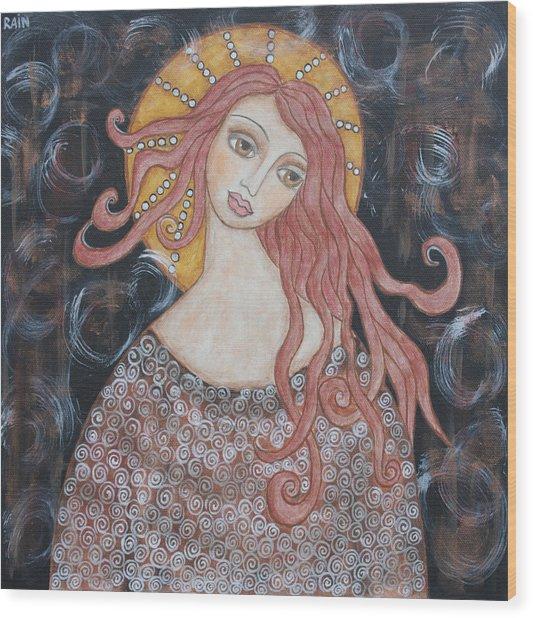 Angel Of Grace Wood Print by Rain Ririn