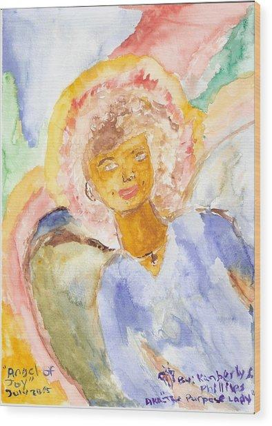 Angel Of Joy Wood Print by Kimberly Ware