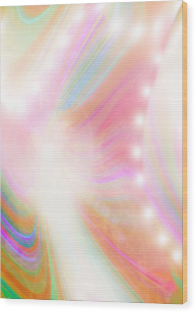 Angel Of Light And Colour Wood Print by Mairin Gilmartin