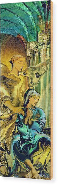 Angel Of Mercy Wood Print by Anne Weirich
