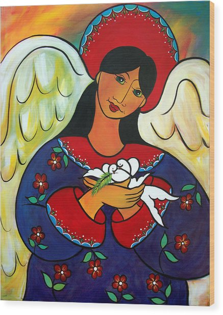 Angel Of Renewal Wood Print