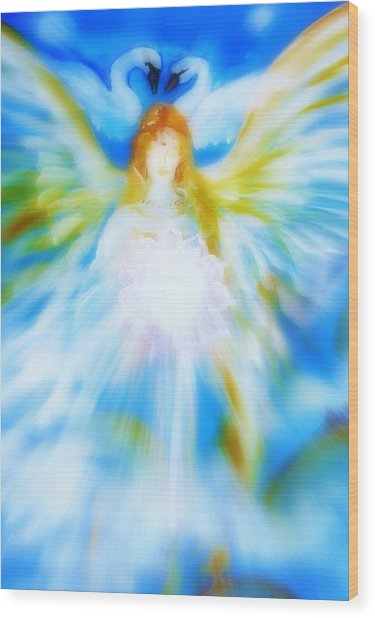 Angel Of Serenity Wood Print