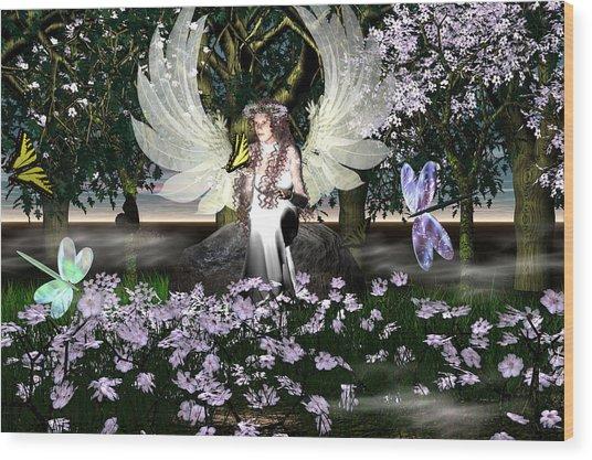 Angel Of Thankfulness Wood Print