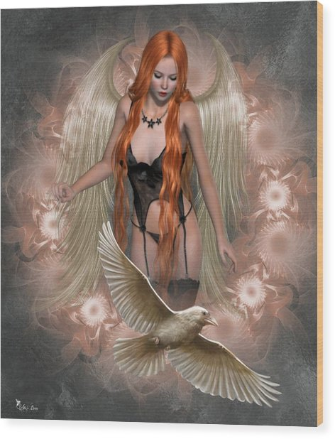 Angel Of The Ravens Wood Print