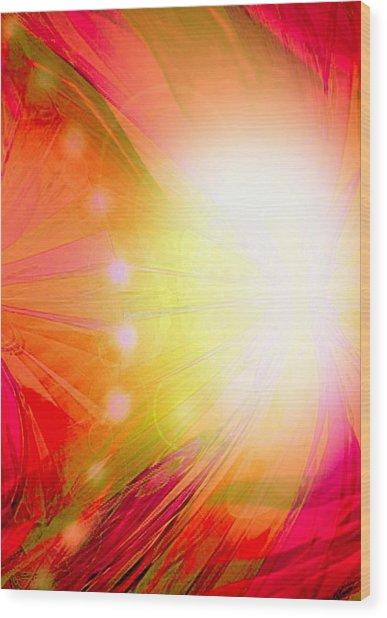 Angel Of Transformation Wood Print by Mairin Gilmartin