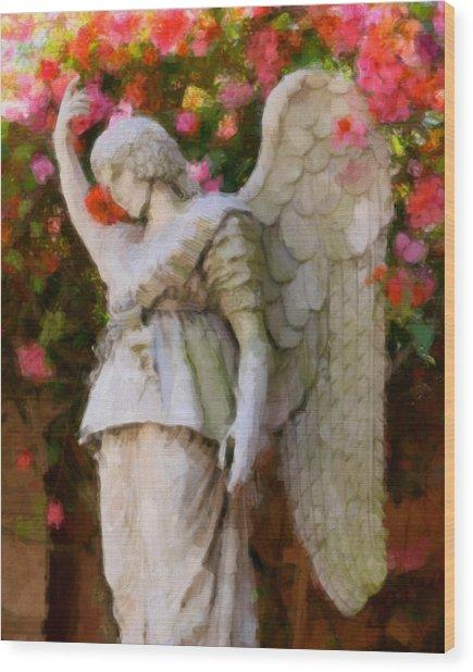 Angel Wood Print by Paul Bartoszek