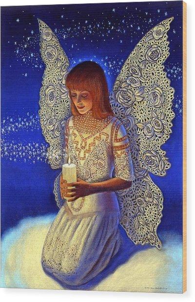 Angel Prayer Wood Print