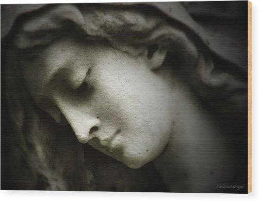Angel Sorrow Wood Print