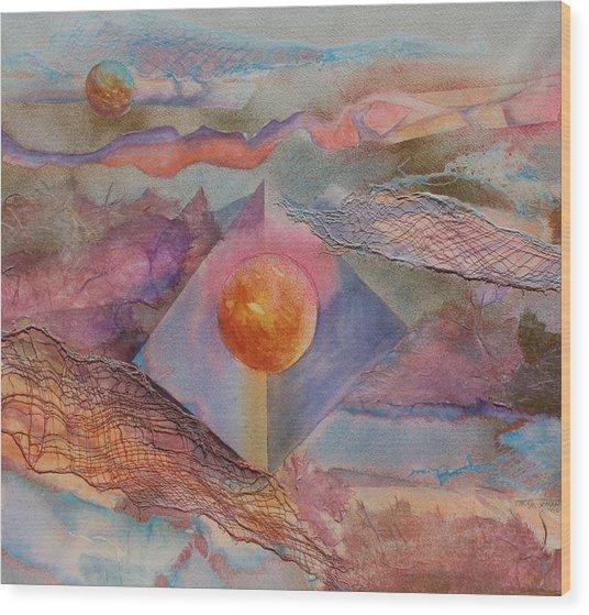 Angel Sphere Wood Print