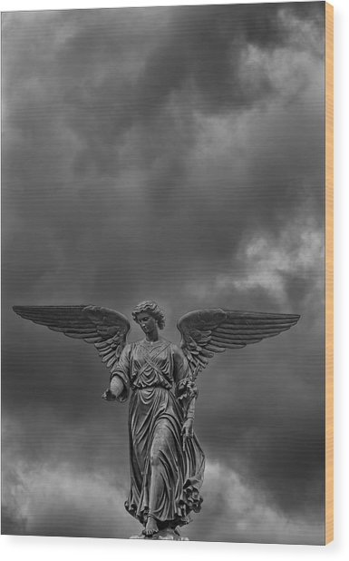 Angel Statue Bethesda Fountain Central Park 2 Wood Print