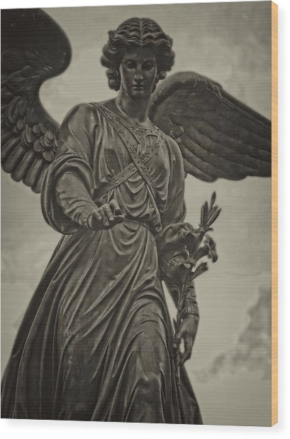 Angel Statue Bethesda Fountain Central Park Wood Print
