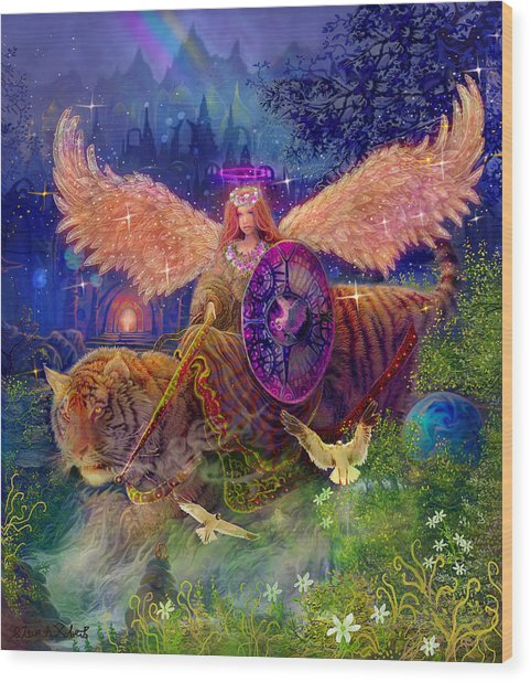 Angel Tarot Card Angel Fairy Dream Wood Print