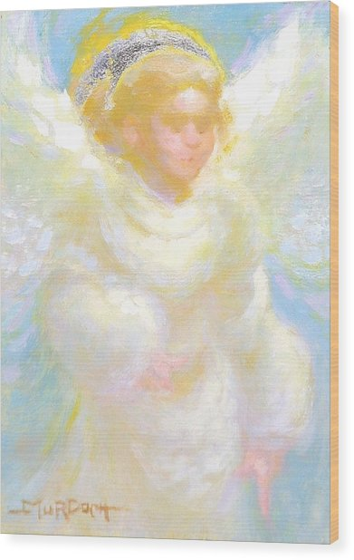 Angel Transmitting Light Wood Print by John Murdoch