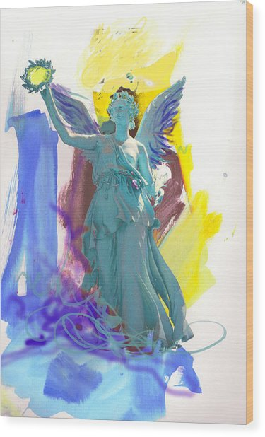 Angel, Victory Is Now Wood Print
