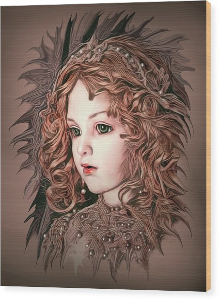 Angelic Doll Wood Print