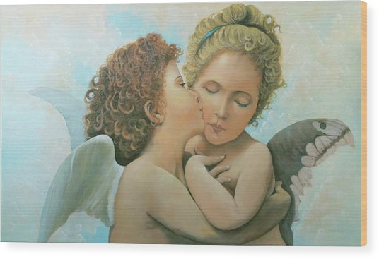 Bouguereau Angels- My Adaptation Wood Print