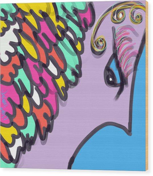 Angelic Observer Wood Print