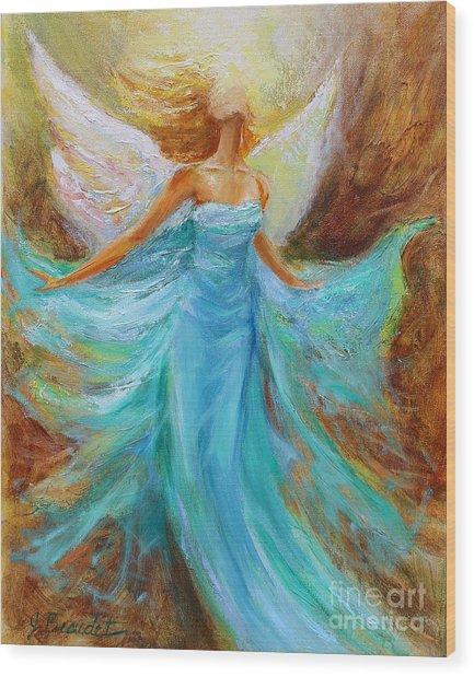 Angelic Rising Wood Print