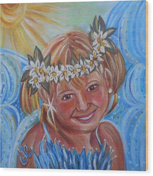 Angelina Faery Wood Print