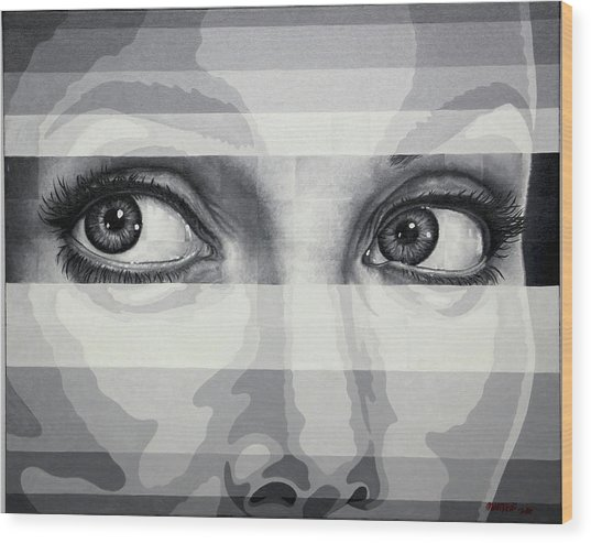 Angelina's Eyes Wood Print