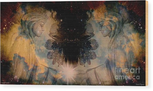 Angels Administering Spiritual Gifts Wood Print