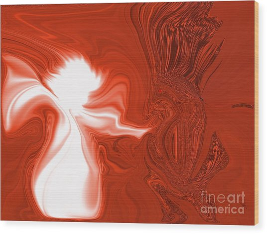 Angels Love All Of God's Creatures Wood Print by Sherri's Of Palm Springs