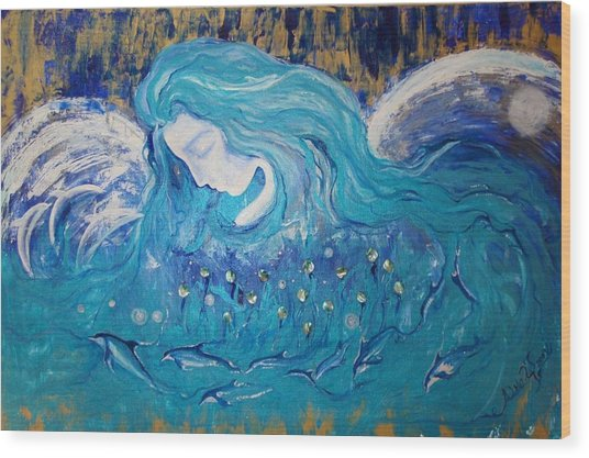 Angels Of The Sea.. Wild Dolphins Wood Print