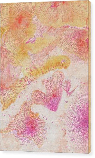 Angels Singing - #ss16dw046 Wood Print by Satomi Sugimoto