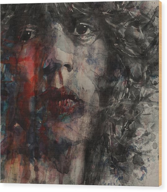 Angie I Still Love You Baby  Every Where I Look I See Your Eyes Wood Print by Paul Lovering