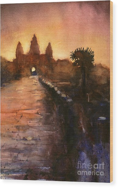 Angkor Wat Sunrise 2 Wood Print