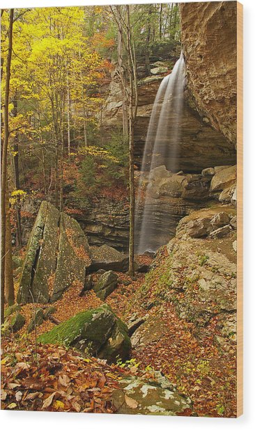 Anglin Falls Berea Kentucky Wood Print