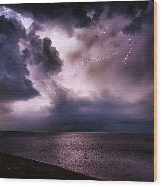 Angry Heavens Wood Print