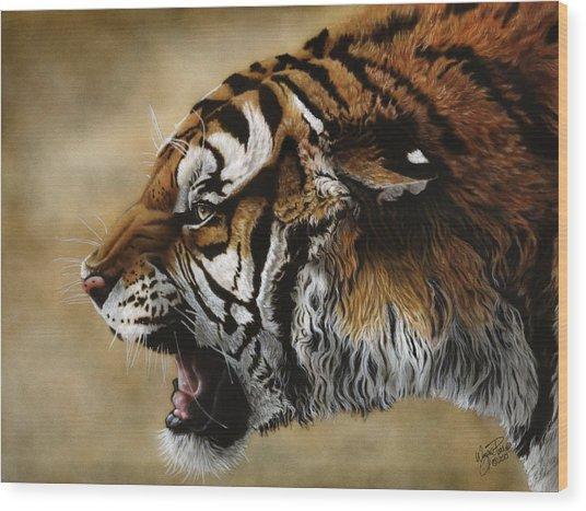 Angry Siberian Wood Print