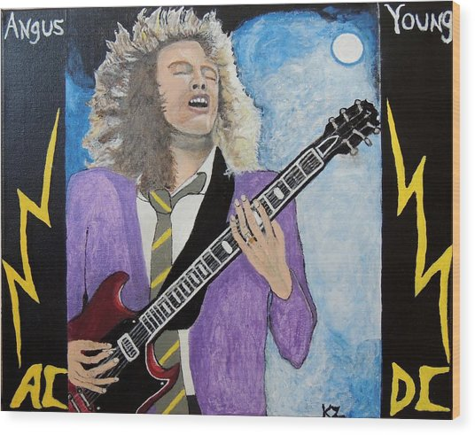 Angus Young Forever. Wood Print