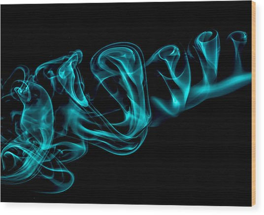 Artistic Smoke Illusion Wood Print