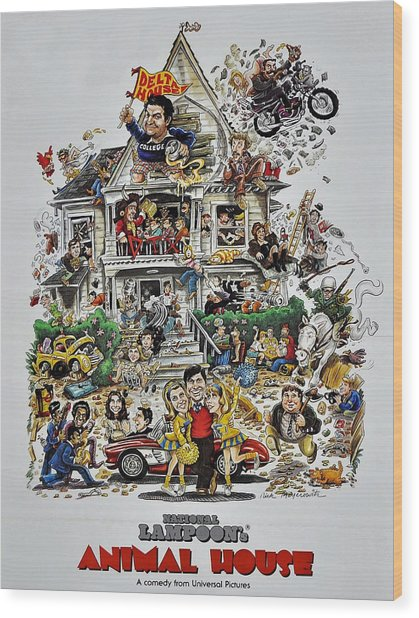 Animal House  Wood Print