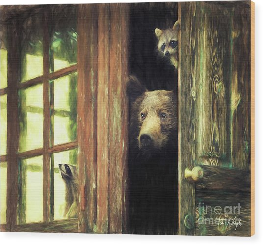 Animal House Wood Print by Tim Wemple