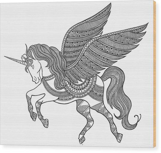 Animal Unicorn Wood Print