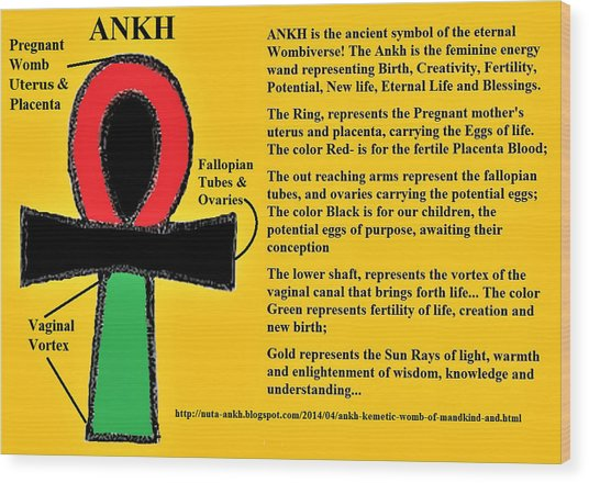 Ankh Meaning Wood Print