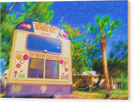 Anna Maria Elementary School Bus C131270 Wood Print